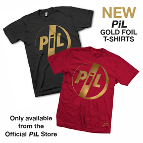 0ab8c8a28e6 New PiL Gold foil t-shirts now on sale via the official PiL webstore