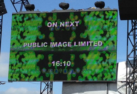 Day 2. 1605 hours. 20,000 people. Seagulls, sun and Public Image. Perfect...