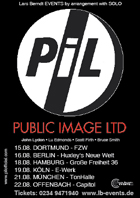Public Image Ltd  German Tour 2010