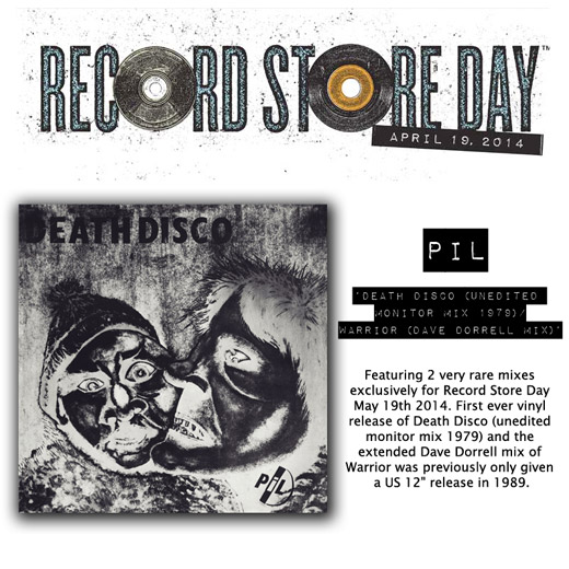 PiL: Death Disco / Warrior RSD 2014