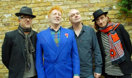 Bruce Smith, John Lydon, Scott Firth, Lu Edmonds, London November 2009, Photo: Dave Wainright © Public Image Ltd