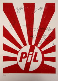 Fully signed PiL Rising Sun Print Competition